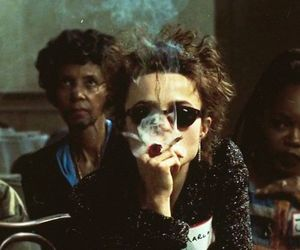 fight club, helena bonham carter, and smoke image