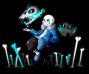 sans, bad time, and undertale image