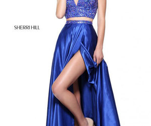 2018 long prom dresses, beaded two piece dresses, and 2-piece prom dresses image