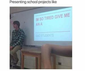 school, funny, and project image
