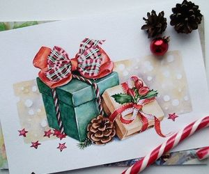 art, christmas, and drawing image