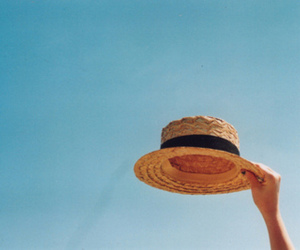 hat, sky, and summer image