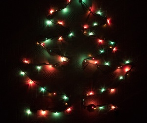 lights, new year, and christmas tree image