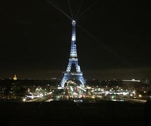 eiffel tower, night, and paris image