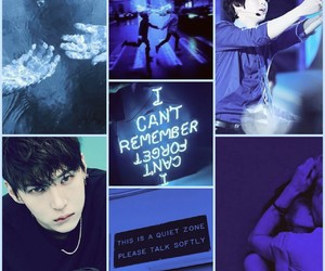aesthetic, blue, and Leo image