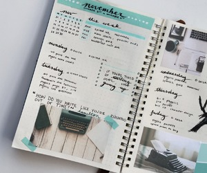 bullet, notes, and planner image