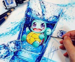 pokemon, art, and blue image