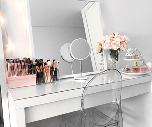 makeup, vanity, and home image