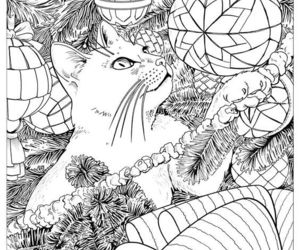 cat, coloring, and coloringpages image