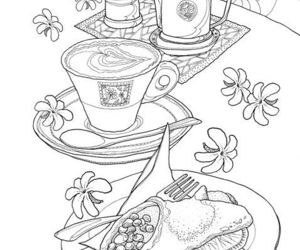coloring, dessert, and coloringpages image