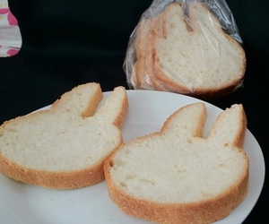 bread, food, and rabbit image