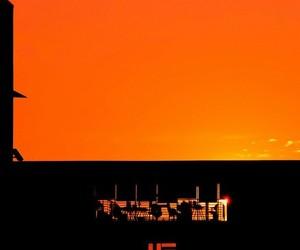 building, minimalism, and orange image