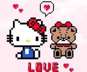 cat, hello kitty, and kawaii image