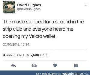 music, strip club, and funny tweet image