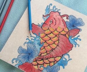 carpa, colors, and dibujo image