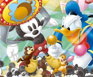 disney, donald duck, and mickey image