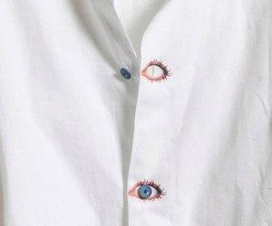 eyes, white, and fashion image