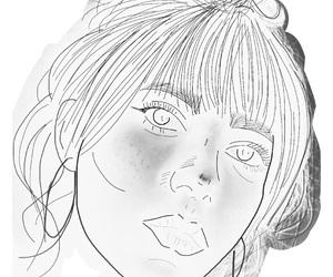 bored, drawing, and girl image