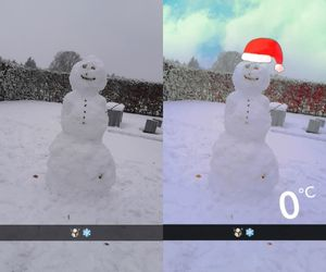 edited, snow, and snowman image