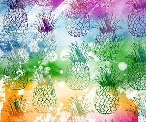 pineapples and colourful image