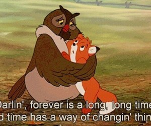 disney, cartoon, and the fox and the hound image