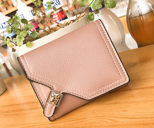 fashion, pink, and wallets image