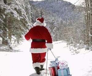 background, present, and santa image
