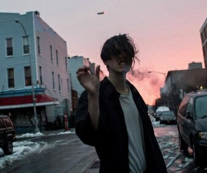 boy, grunge, and smoke image
