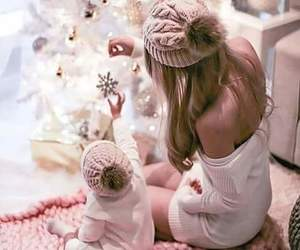 christmas, winter, and baby image