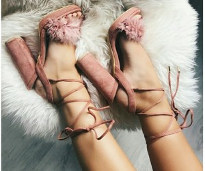 aesthetic, pink, and high heels image