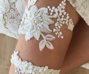 wedding garters, lace wedding garter, and keepsake garter image