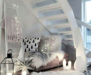 home, white, and lights image