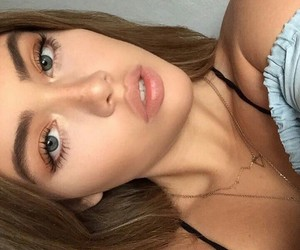 beauty, makeup, and blue eyes image