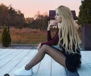 blonde, outfit, and fashion image