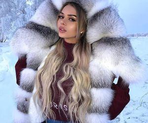 girl, makeup, and winter image