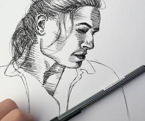 actor, drawing, and ezramiller image