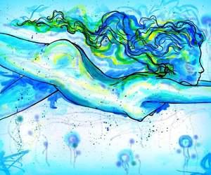 aquarius, blue, and ninfa image