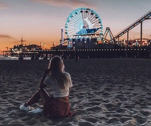 california, pier, and santa monica image