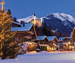 mountain, snow, and switzerland image