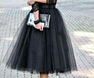 black, dress, and lace image