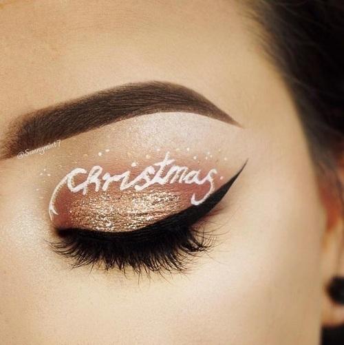 makeup, christmas, and winter image