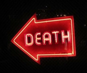 death, red, and neon image