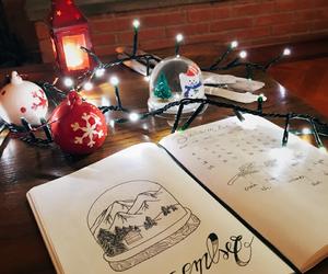 merry christmas, snow, and navidad image