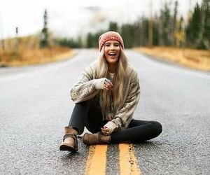 girl, road, and photography image