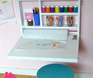 diy, room, and art desk image