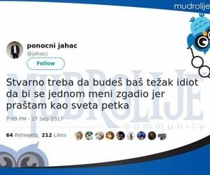 balkan, idiot, and twitter image