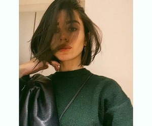 black, brunette, and fashion image