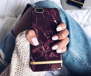 fashion, nails, and iphone image