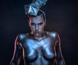fashion, style, and bodypaint image