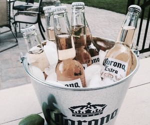 drink, beer, and corona image